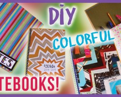 DIY Cute & Colorful Notebooks ✽ Back to School