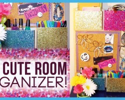 DIY Cute Room Organizer ✽ Organize YOUR Room!