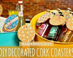 DIY Decorated Cork Coasters – HGTV Handmade