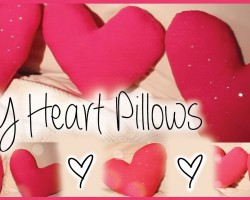DIY Decorative Heart Pillows! Affordable & Cute