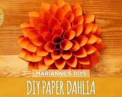 DIY Giant Paper Dahlia – HGTV Handmade