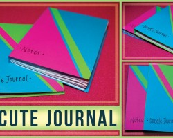 DIY Journal Accordion Style with Paperback Cover! DIY Homemade / Use for Journaling or Doodling