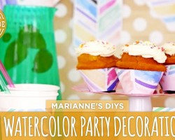 DIY Watercolor Party Decorations – HGTV Handmade