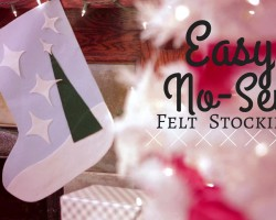 Easy No-Sew Felt Stocking
