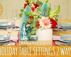 Holiday Table Settings 2 Ways – HGTV Handmade