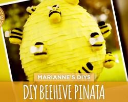 How To Make a Beehive Piñata- HGTV Handmade