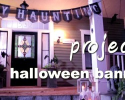 How To Make a Halloween Party Banner