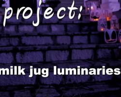 How To Make Halloween Milk Jug Luminaries
