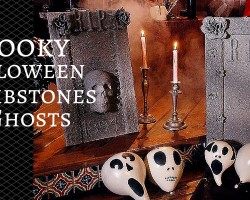 How to Make Spooky Halloween Tombstones and Ghosts
