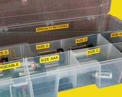 How to Organize Batteries (Part 9 of 9 Home Office Organization Series)