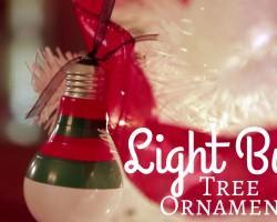 Light-Bulb Tree Ornaments