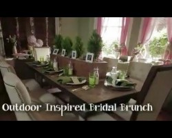 Outdoor-Inspired Bridal Brunch – DIY Network