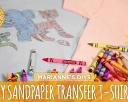 Sandpaper Transfer T-shirts – HGTV Handmade
