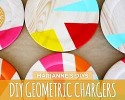 DIY Geometric Plate Chargers – HGTV Handmade