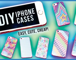 DIY PHONE CASES! Many iPhone Case DIY Ideas: Colorful, Pattern, Unique, Ombre, Glitter, Easy, Cheap!
