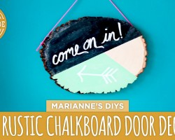 Geometric Chalkboard Door Decor – HGTV Handmade