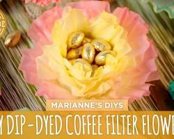 Dip-Dyed Coffee Filter Flowers – HGTV Handmade