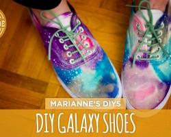 DIY Galaxy-Print Shoes – White Shoes Challenge Week – HGTV Handmade
