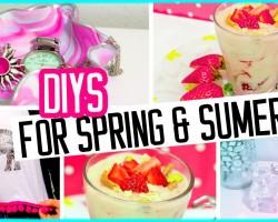 DIYs for spring & summer! Room decor, crop top & healthy ice-cream!