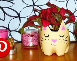 DIY cat planter! ❤ Pinterest recreation   DIY room decor