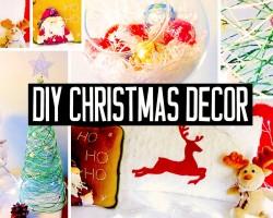 DIY Christmas room decorations! No-sew pillow, easy tree & more! Holiday decor