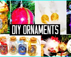 DIY Christmas tree ornaments! Harry Potter inspired! Holiday decorations