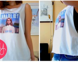 DIY FASHION ❤ Lana Del Rey GRAPHIC SHIRT!