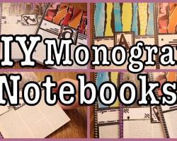 DIY: Monogram Notebooks! Back to School