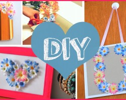 DIY ROOM DECOR ❤ Cheap & cute projects using fake flowers!!