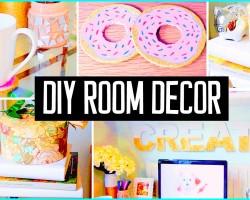 DIY ROOM DECOR! Desk decorations! Cheap & cute projects!
