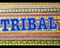 DIY: Tribal Print Poster Art || Drawing