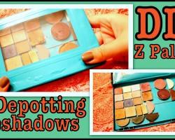 DIY: Z Palette & Depotting Eyeshadows