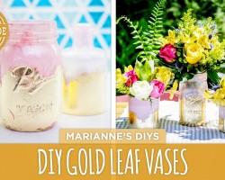 Mother's Day DIY: Gold Leaf Vases – HGTV Handmade