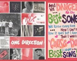 "ONE DIRECTION ""Best Song Ever"" Lyrics ART"