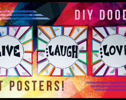 DIY Doodle Poster Art!
