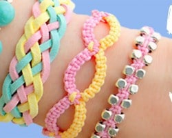 DIY friendship bracelets for summer! 4 Easy Stackable Arm Candy projects!