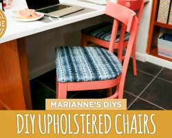 How to Upholster a Dining Chair + Kitchen Preview! – HGTV Handmade