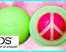 DIY EOS lip balm: peace sign design! EASY