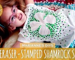 Eraser-Stamped Shamrock T-Shirt – HGTV Handmade