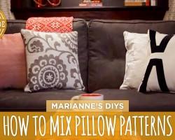 How To Mix and Match Throw Pillows – HGTV Handmade