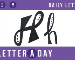 A Letter A Day // Doodle Letters! Today's Letter: H