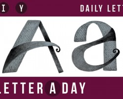 A Letter A Day // New Letters Every Day! Today's Letter: A
