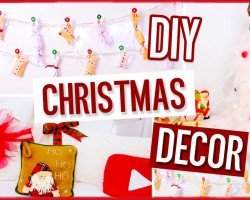 DIY Christmas decorations! No-sew pillow, easy tree & more! Holiday projects