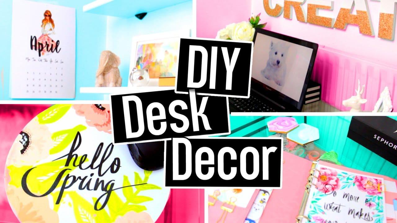 Diy desk decorations for spring summer diy room decor for 5 diy summer room decor ideas