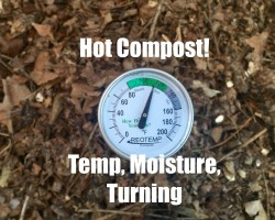 Hot Compost Pile – Temperature, Moisture and  Turning the Pile