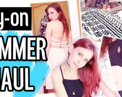 Try-on SUMMER HAUL 2016! Bikinis, backless dresses, round towels & Harry Potter!!?