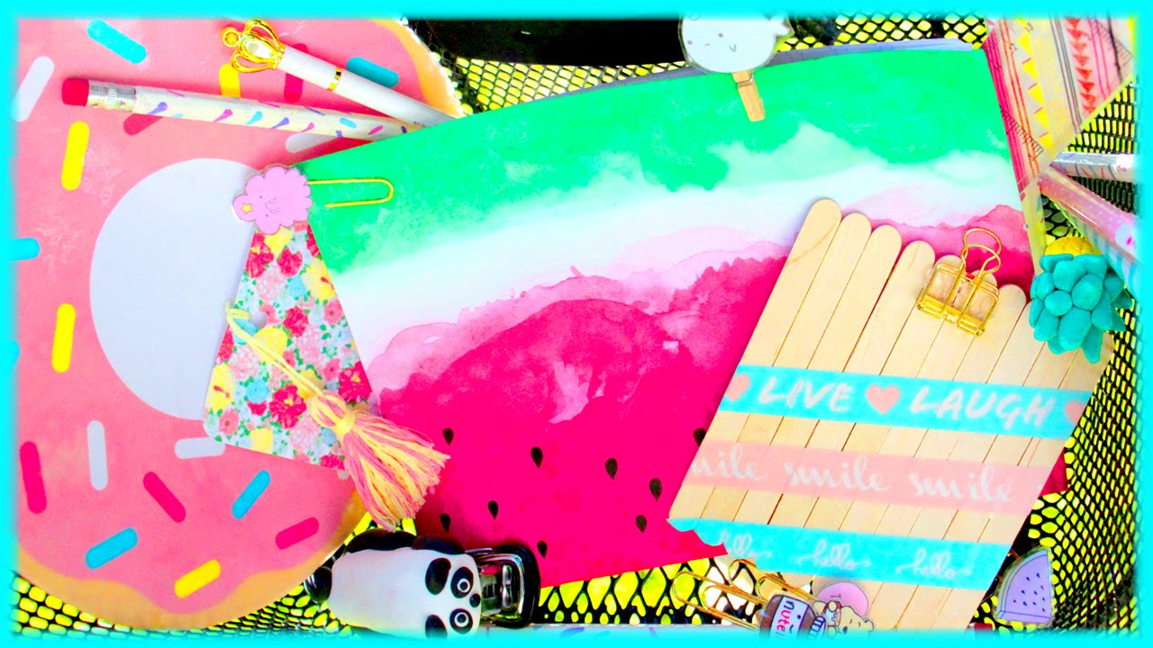 10 diy back to school supplies you need to try with sara for Room decor ideas sara beauty corner