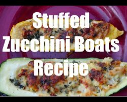 Recipe for How to Make Stuffed Zucchini Boats in 4K