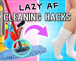 LAZY AF Life HACKS To Clean Your ROOM For 2017! Don't Make Your bed!
