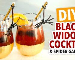 DIY Halloween Cocktail & Licorice Spider Garnish – HGTV Handmade